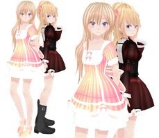 MMD Alice and Rosalyn by xinshin