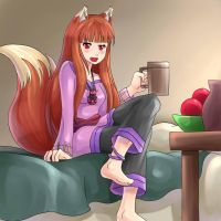 Holo the wise alcoholic by zipskyblue