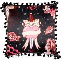 Sourpuss Tattoo Time Pillow by Miss-Cherry-Martini