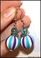 Purple -turquoise earrings by Maca-mau