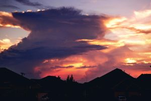 Explosion in the clouds sunset by LeGreg