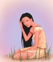 Pocahontas sketch - Colored by stargate4ever23