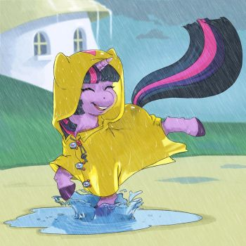 Trotting in the Rain by kevinsano
