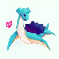 #131 Lapras by Julia-Alison