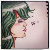 Green Haired Girl by leafyloo
