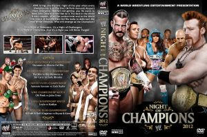 WWE Night of Champions 2012 DVD Cover V2 by Chirantha