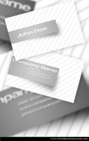 White Business Card by Freshbusinesscards