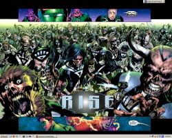 Rise of the Black Lanterns by shaoron