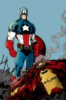 Captain America vs Iron Man by olirushworth