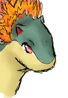 .:Typhlosion Doodle:. by FoxDemon12