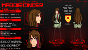 Character Sheet: Maddie Cinder by Pilot-Obvious