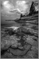 black and white trickle by RAS1