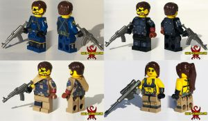 LEGO MGSV: Big Boss, Venom Snake, and Quiet by Saber-Scorpion
