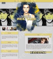 Justin Bieber Web Layout by szndsgn