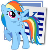 Rainbow Dash Microsoft Word icon 2 by tauts05