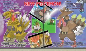 Turking and Pilfowl Fake pokemon Scan by Phatmon