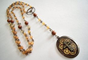 Steampunk Rosary by syrenemyst