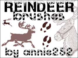 Reindeer Brushes01 by annie252
