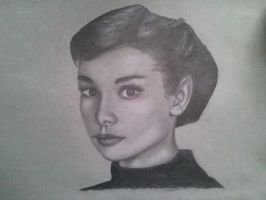 Audrey Hepburn by oolonculluphid