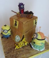 Minions on the Move by FifiCake