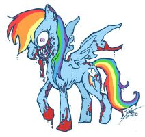 My Little Zombie - Rainbow Dash by GenghisKrahn