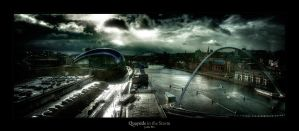 Quayside in the Storm by geckokid