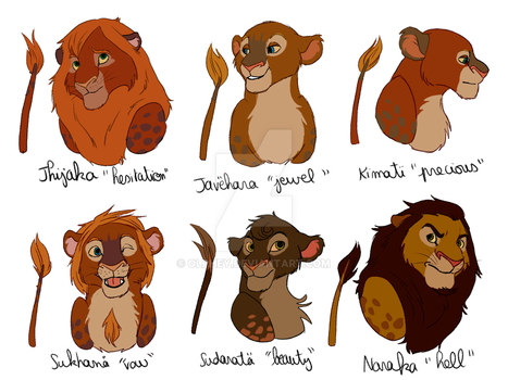 Bunch of characters 6/8 - Jungle lions by Olphey