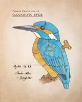 Clockwork Bird Kingfisher by haz-elf