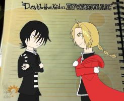 Death the Kid v.s. Edward Elric Drawn to Life by snowcloud8
