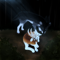 Moonlit Stagwolves Contest Entry by EclecticRat