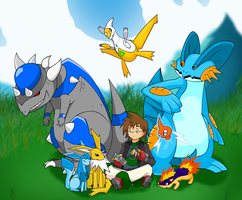 Me and ma Pokemans by Trakker