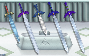 Evolution of the Master Sword Wallpaper XXL by BLUEamnesiac