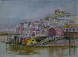 Whitby from the Northern side of the harbour by oldgroaner