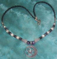 Moonstone Pentacle Necklace 1 by Windthin