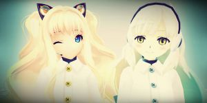 MMD .: Winter SeeU and Winter Mayu :. by Isha291