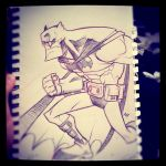 Rough Sketch: The Batman by Zatransis