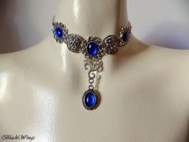 Amelia - blue by BlackWings-jewelry