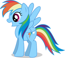 Mlp Fim Rainbow Dash (happy) Vector by luckreza8