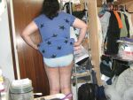 stars patterned blue dress showing panties ass by aet256