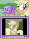 applejack face by Cogs-Fixmore