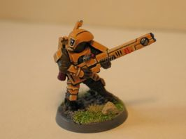 Warhammer 40k Tau fire warrior by DayWeAntArt