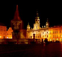 Main Square in Ceske Budejovice at Night04 by abelamario