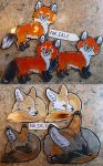 Magnets Red Fox and Fennec by RonTheWolf
