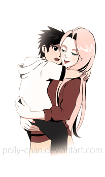 Sakura with child 3 by polly-chan