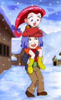 Chibi Jessie and James by Shaami