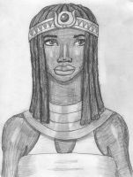Aset the Kemetic Mother Goddess by DaBrandonSphere