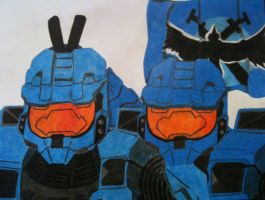 Blue Team Duo by Drakesoldier067