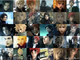 Cloud, Zack, and Reno Collage by missxmello