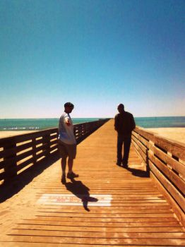On The Pier by BR0KEN-TYP3-WRIT3R