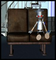 Lonely li'l robot by Luddox